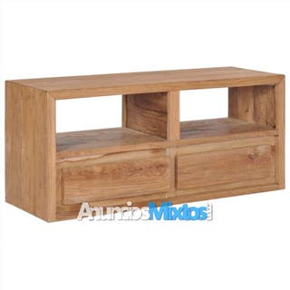 Mueble para TV de madera de teca maciza 90x30x40 c