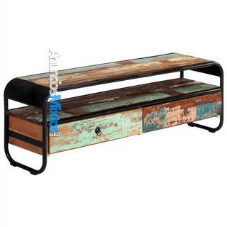 Mueble para la TV madera maciza reciclada 120x30x4