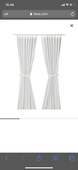 2pax cortinas blancas Ikea