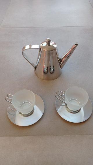 Juego té o café moderno de metal