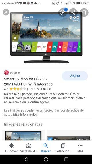 smart TV 28 pulgadas LG seminueva