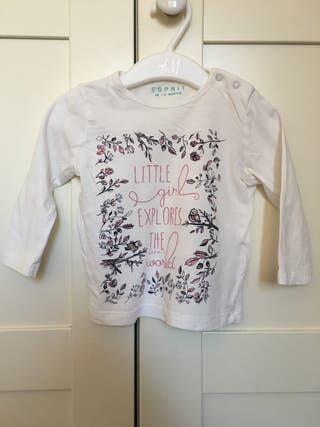 Camiseta manga largaEsprit niña, talla 68, 6 meses