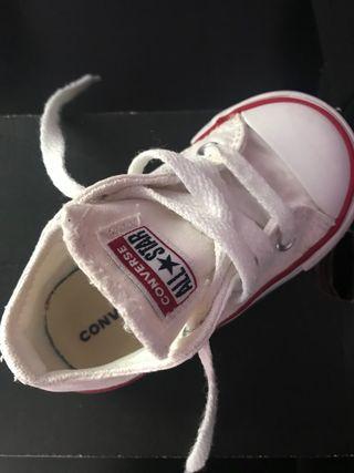 Converse bebé blancas