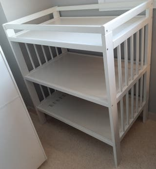 Cambiador bebé blanco