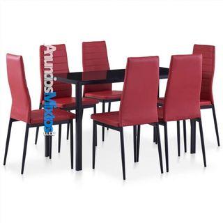 Conjunto de mesa y sillas de comedor 7 piezas colo