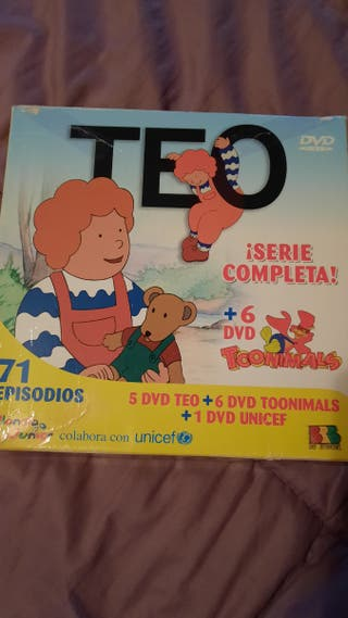 Pack con 5 dvd Teo+6dvd Toonimals