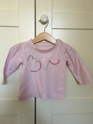 Camiseta manga larga niña, talla 74, 6-9 m