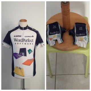 Maillot y guantes ciclismo Word Perfect 1993.