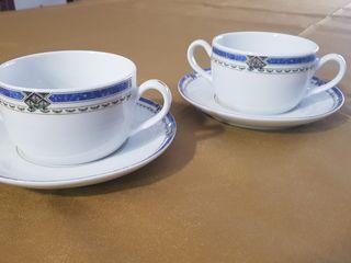 tazas consomé porcelana Costa Verde