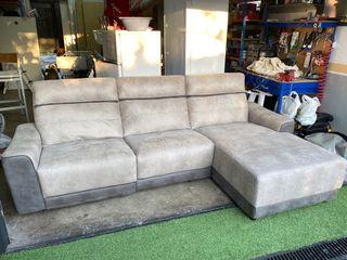 Sofa de color gris bitono con aguas CONFORAMA
