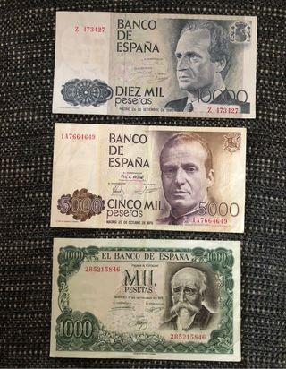 Lote(2) billetes españoles.