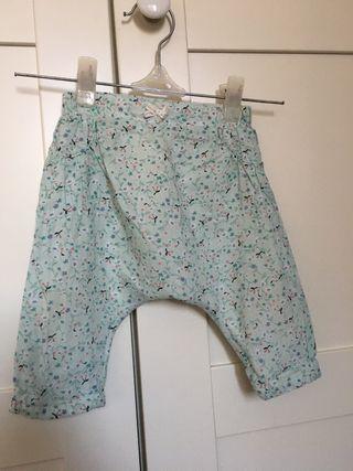 Pantalón bebé de doble tela, talla 62, 2-4 meses