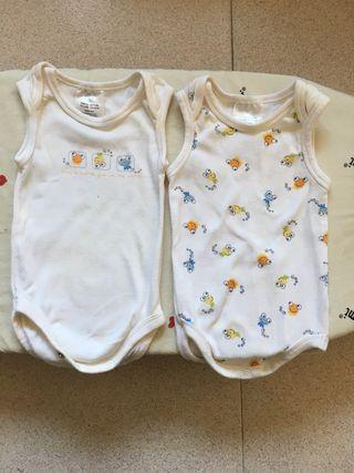2 body bebé, talla 62, 2-4 meses