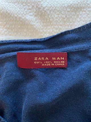 Jersey fino azul de Zara Black Label talla L