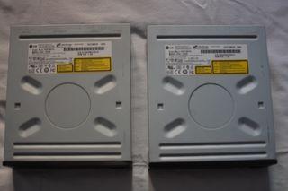 2 unidades grabadoras DVD LG