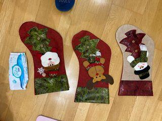 Calcetín chimenea navidad