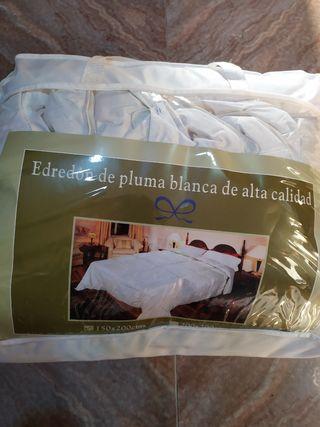 Edredón de plumas para cama individual