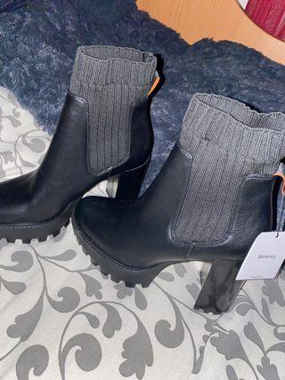 Botines de tacón (calcetín) plataforma
