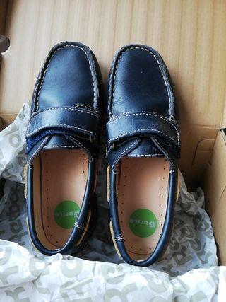 zapatos náutico azul marino