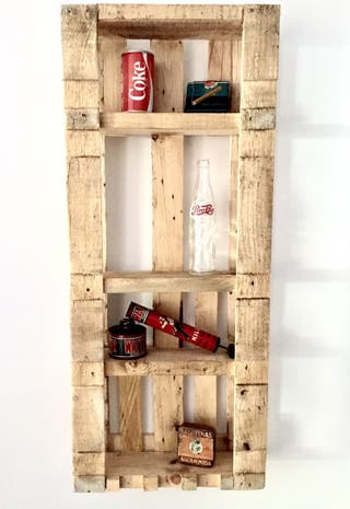 Jardín vertical estantería madera palet reciclada