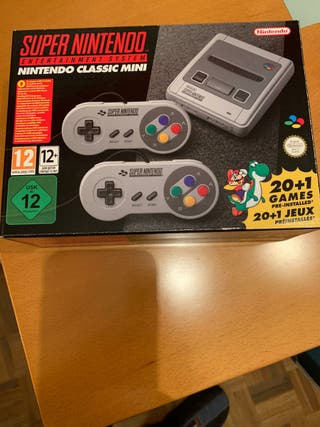 Super Nintendo mini classic + funda de regalo