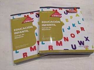 Libros temario oposiciones Educación Infantil