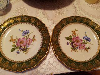 Platos de Limoges pintados a mano