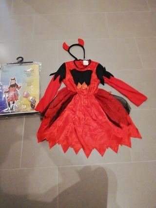 disfraz diabla niña 3-6 años