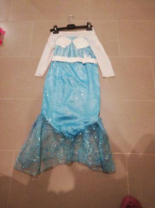 disfraz sirena niña 3-6 años