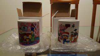 dos tazas de dibujos animados
