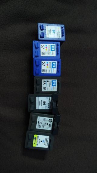 cartuchos 56 y 57 para impresora HP