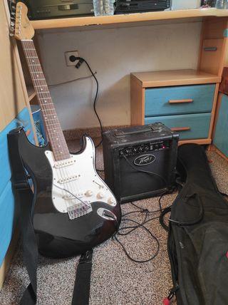 Guitarra eléctrica encore + amplificador peavey