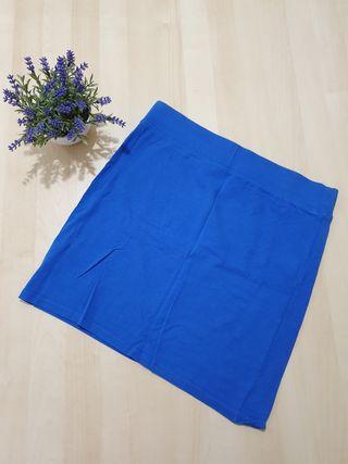 Falda azul Bershka