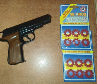 Pistola de juguete con fulminantes