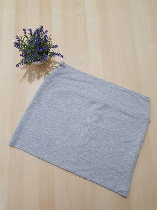 Falda gris Primark