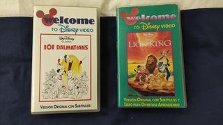 Dos películas VHS Disney VOS