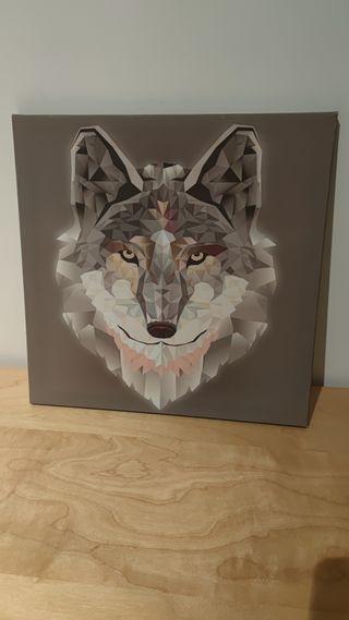 Cuadro lobo 38x38