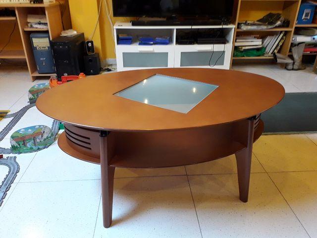 mesa centro comedor elevable