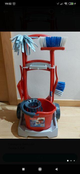 carrito de limpieza vileda infantil