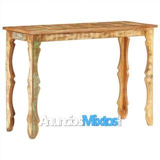 Mesa consola de madera maciza reciclada 110x40x76