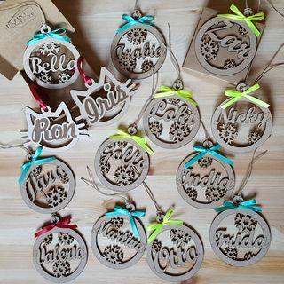 Bolas de Navidad personalizadas x3