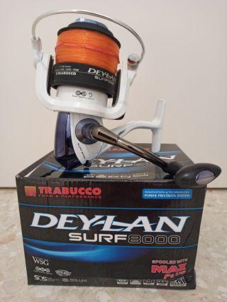 Carrete surfcasting trabucco deylan surf 8000