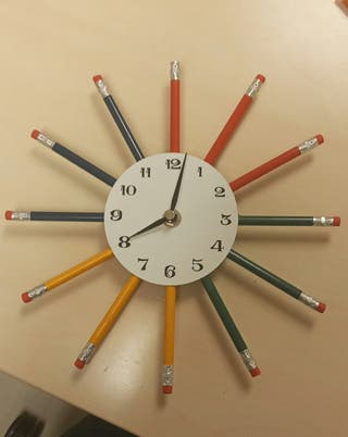 Reloj de lápices