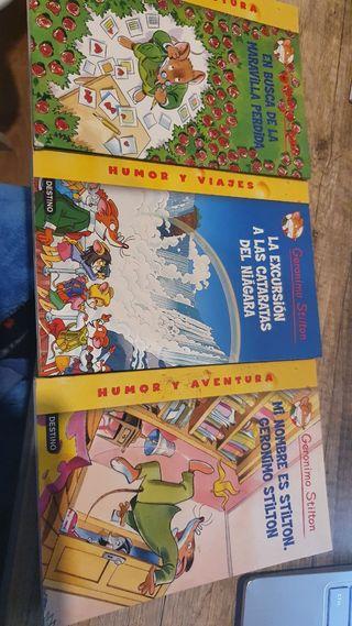 Lote 3 libros Geronimo Stilton x 15€