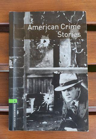 "Libro en inglés ""AMERICAN CRIMES STORIES"" Oxford"
