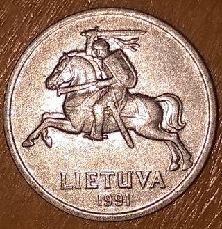1 céntimo de lita lituana