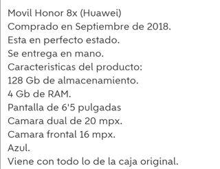 HONOR 8X (HUAWEI)