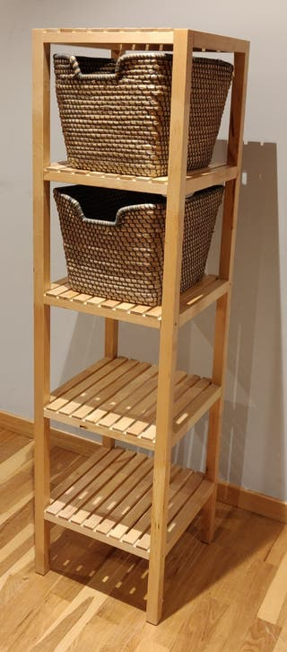 Estantería baño Molger IKEA + Cestos ASUNDEN