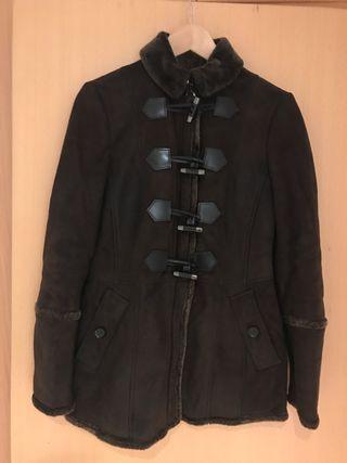 Abrigo de piel Burberry