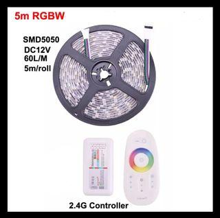 Cinta de luz LED 5050 RGBW 5M 60L/M, 2,4G de luz b